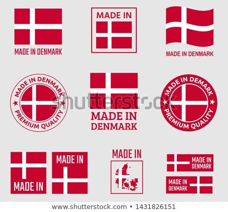 Dinamarca logotipo mapa ícone vetor projeto Foto stock © blaskorizov