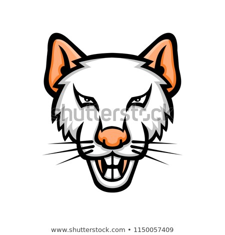 Albino laboratório mouse mascote ícone ilustração Foto stock © patrimonio