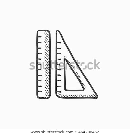 Władcy rozmiar środka szkic ikona Zdjęcia stock © RAStudio