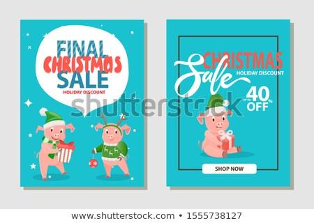 Рождества продажи праздник скидка 40 процент Сток-фото © robuart