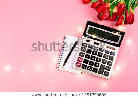 business still life from a notepad with the text taxes Stock photo © mizar_21984