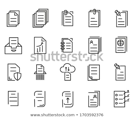 Office Paper Documentation Set of Icons Vector Stock photo © robuart