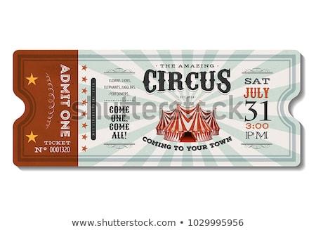 Circo tenda campo grama educação verde Foto stock © colematt