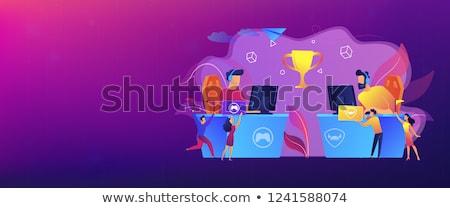 Szalag fejléc profi játékos asztal játszik Stock fotó © RAStudio