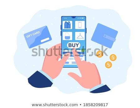 Online alışveriş depolamak Internet uygulaması satın alma Stok fotoğraf © jossdiim