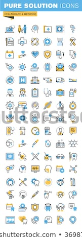 Dental clinic surgery services thin line icons Stock photo © vectorikart