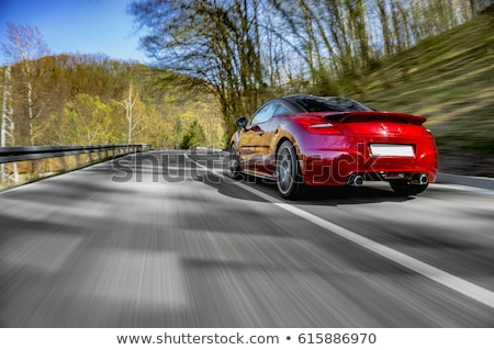 red car road transport stock photo © studiostoks