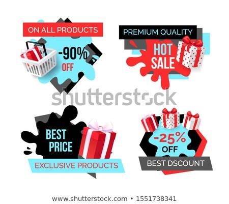 Exkluzív termékek legjobb ár 25 százalék alsó Stock fotó © robuart