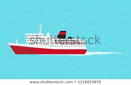 water transport big comfortable liner vector stock photo © robuart