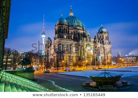 Berlin Cathedral in snow Stock photo © benkrut