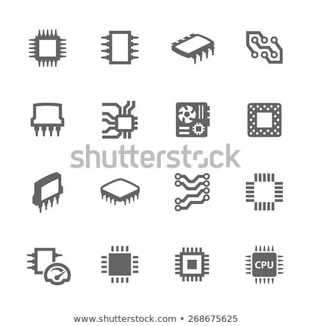 Micro botón icono color diseno tecnología Foto stock © angelp