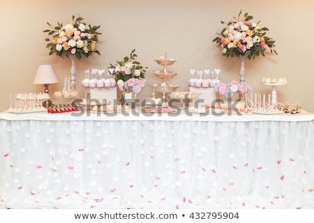 Foto stock: Luxo · casamento · doce · bar · tabela · conjunto