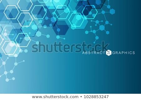 Absztrakt gyógyszer tudomány technológia kapcsolat struktúra Stock fotó © designleo