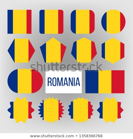 romania flag set vector official romania flag flat symbol different shapes illustration stock photo © pikepicture