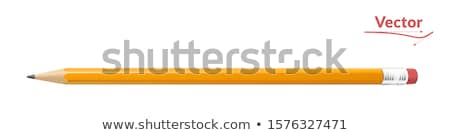 office paper icon and sharp pencil isolated vector stock photo © robuart