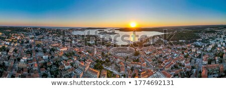 Town of Pula old Roman theater ruins view Stock photo © xbrchx
