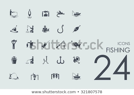 icon of fishing spoon stock photo © angelp