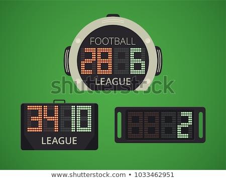 Futebol árbitro scoreboard ícone projeto Foto stock © angelp