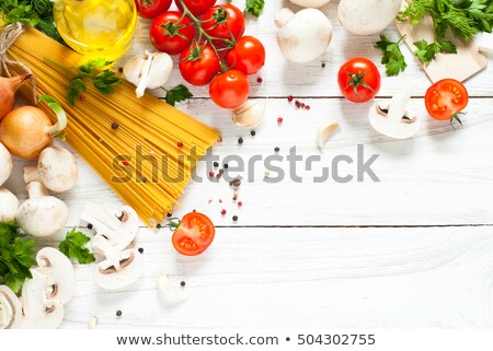 raw uncooked pasta on table stock photo © sonia_ai