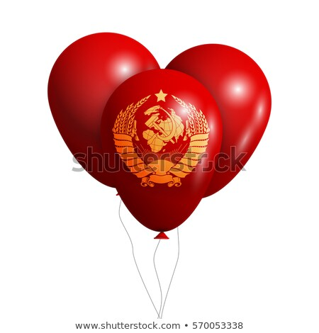 Balloons wish Coat of Arms of Soviet Union Stok fotoğraf © netkov1