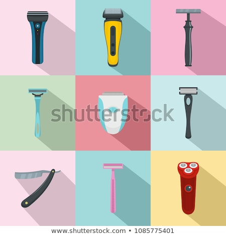 Electric Modern Shaver Epilator Razor Set Vector Stock photo © pikepicture