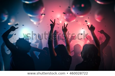 Night Party People Dancing on DJ Music Partying Stock photo © robuart