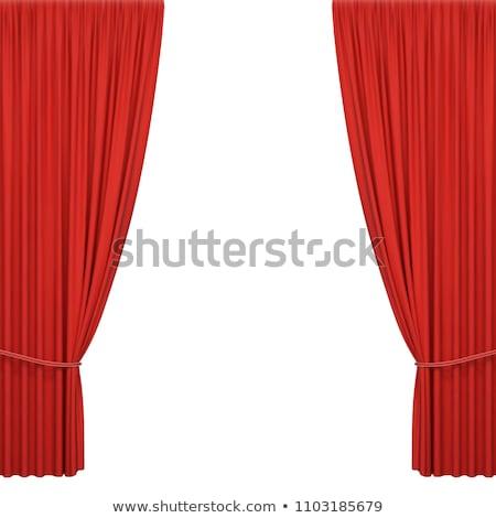 кино экране красный занавес градиент Сток-фото © barbaliss