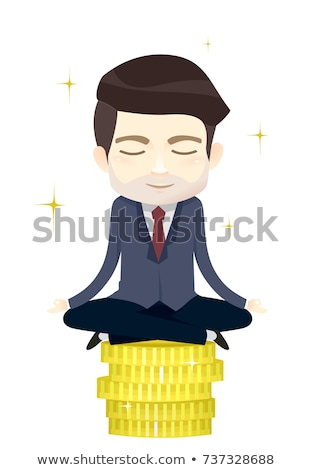 Homem dinheiro mantra ilustração homem de negócios Foto stock © lenm