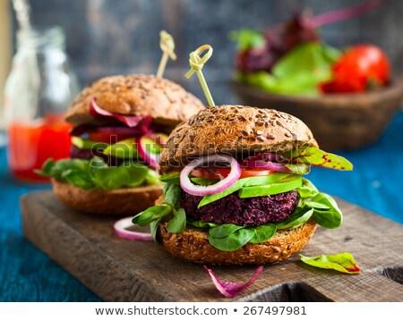 gezonde · hamburger · heerlijk · veganistisch · wortel - stockfoto © anna_om