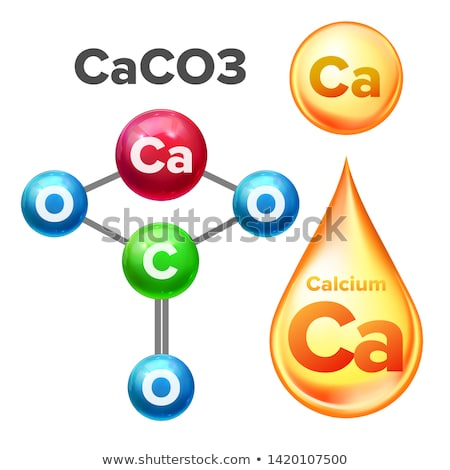 molecular structure calcium carbonate caco3 vector stock photo © pikepicture