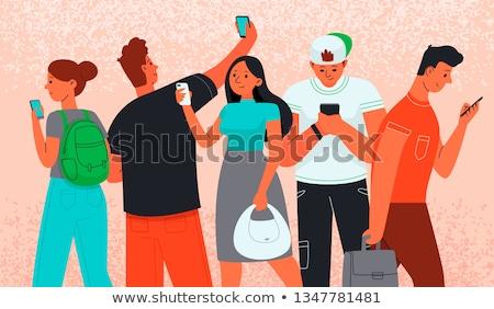 Addicted to gadget Stock photo © pressmaster