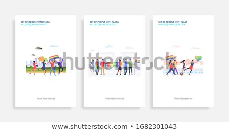 Parade concept landing page. Stock photo © RAStudio