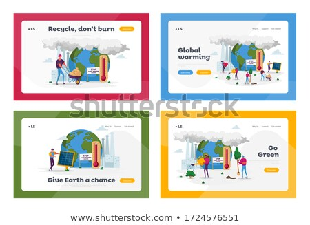 Global warming landing page template. Stock photo © RAStudio