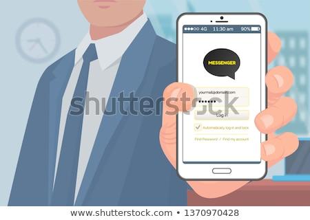 sms · sohbet · telefon - stok fotoğraf © robuart