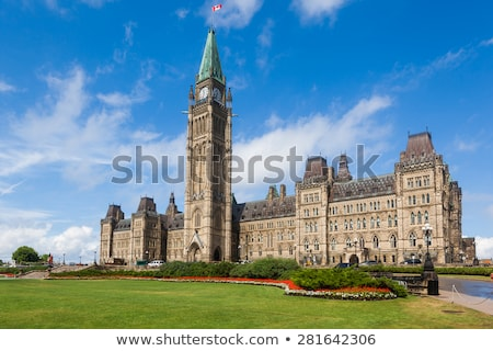 center block and the peace tower in parliament hill at ottawa in canada stock photo © lopolo