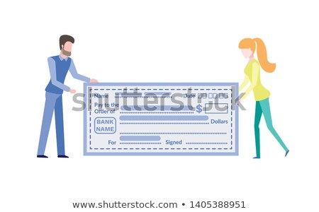 people with big empty account payment card vector stock photo © robuart