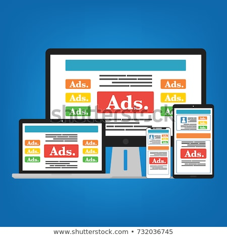 Online Advertising, Smartphone and Laptop Screen Stock photo © robuart