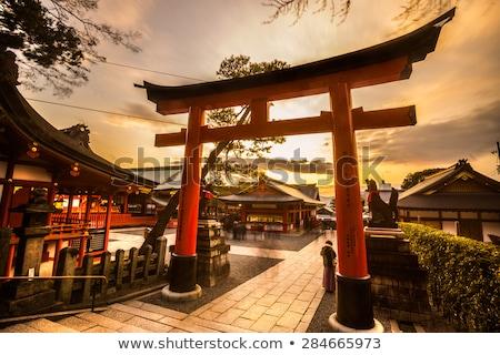 Lanterna santuário quioto Japão tradicional madeira Foto stock © daboost
