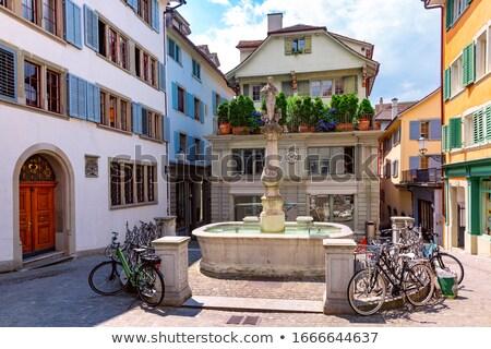 vierkante · Zürich · historisch · gebouw · centrum · Zwitserland - stockfoto © borisb17
