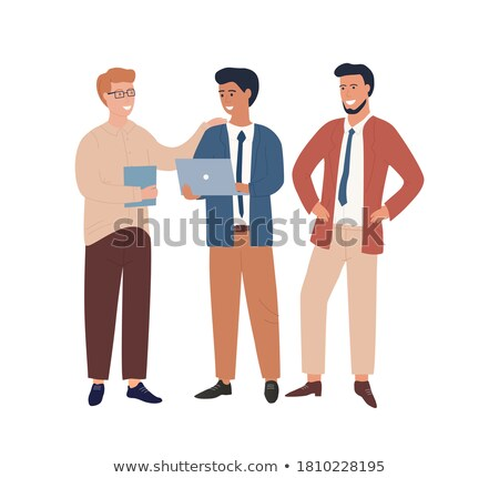 Business employees solving work issues Stock photo © pressmaster