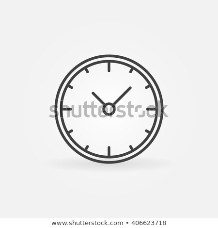 wall clock simple icon vector linear clock sign or logo element stock photo © kyryloff
