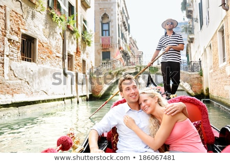 Smiling Woman Riding In Gondola Stock photo © AndreyPopov