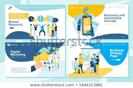 Baan bieden landing pagina geslaagd business Stockfoto © RAStudio