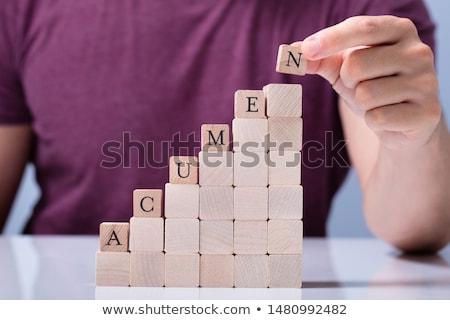 Személy utolsó ábécé szó személyek kéz Stock fotó © AndreyPopov