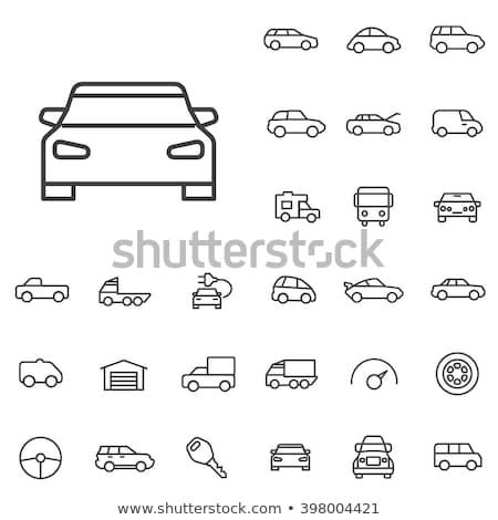 Sedan araba ikon renk dizayn Stok fotoğraf © angelp