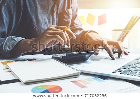 stock · párbeszéd · számítógép · nők · csoport · dolgozik - stock fotó © freedomz