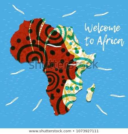 Afrika Karte african Frau ethnischen Herkunft Stock foto © robuart