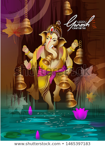 lord ganesha creative face design background Stock photo © SArts