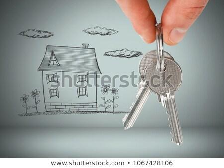 Kéz tart kulcs ház rajz digitális kompozit Stock fotó © wavebreak_media