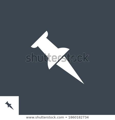 Stok fotoğraf: Push Pin Related Vector Glyph Icon